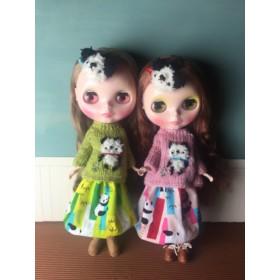 ★パンダと笹双子コーデ★くま太郎 ブライス