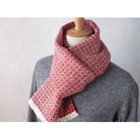 手織りラムウールカシミヤマフラー_011