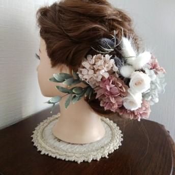 アンティークカラーの髪飾り 卒業式 入学式 結婚式