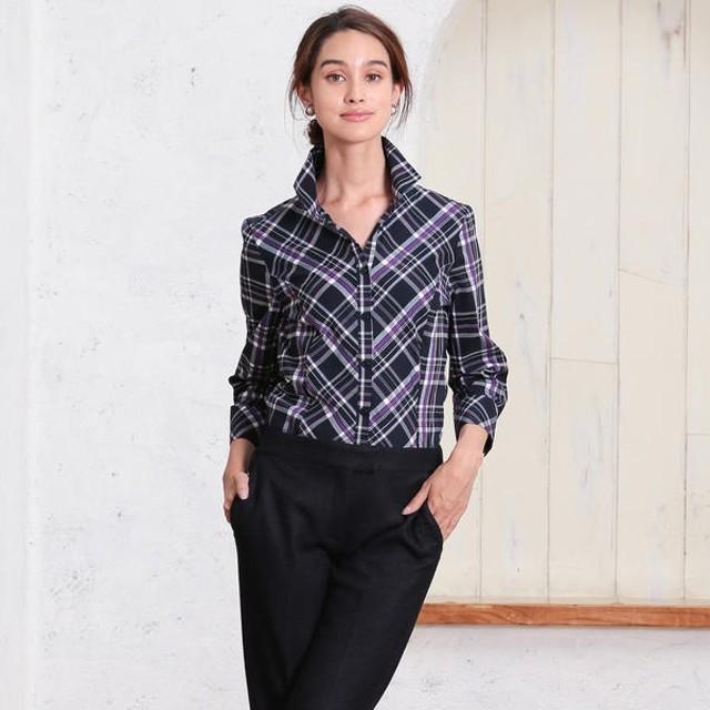[マルイ]【セール】イタリアンチェックスタンドカラーシャツ/ナラカミーチェ(NARACAMICIE)