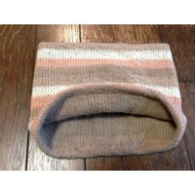 袋とじのネックウォーマー 染め編みシリーズ そよごと桜3号1本取り 茶色