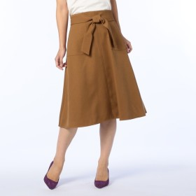 [マルイ]【セール】ウールライク起毛ツイルリボン付フレアスカート/ノーリーズ レディース(NOLLEY'S)