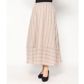 [マルイ]【セール】ストライプギャザースカート/ファクターイコール(Factor=)