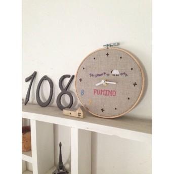 受注制作: オリジナル刺繍時計 世界でひとつ