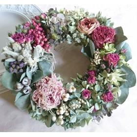 ―ボタニカルcake―ロマンティックアンティークの花園リース