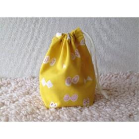再販 ちょうちょのコップ袋(黄色)