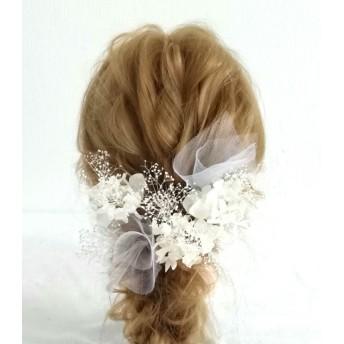 ドライフラワー髪飾り 結婚式 成人式