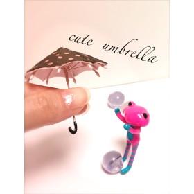 送料無料 【1点のみ】5センチ ミニチュア傘 チョコ色