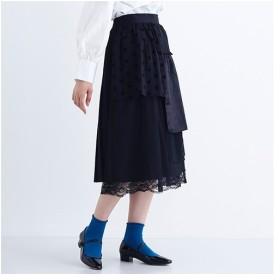 [マルイ] 【plus】ティアードチュールバックプリーツスカート/メルロープラス(merlotPLUS)