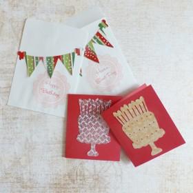 誕生日カード(2枚set)