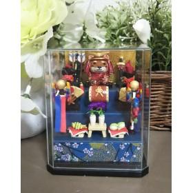柴犬の五月人形(段飾り)(手のひらサイズ)