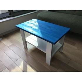 ミニテーブル★ブルー /青白★子供用テーブル/男の子/ハンドメイド