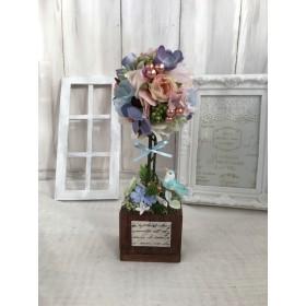 【送料込み】小花のトピアリー*ブルー