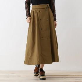 [マルイ]【セール】【洗える】ダブルボタンミディチノトレンチスカート/オゾック(OZOC)