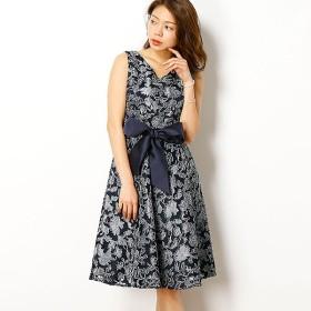 [マルイ] 花柄刺繍レースフィット&フレアーワンピースドレス/ドリードール(Dorry Doll)