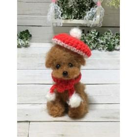 羊毛フェルト 赤い帽子のぷ〜ちゃん