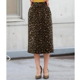 [マルイ]【セール】微シャギーヒョウ柄ジャガードタイトスカート/アナップ(ANAP)