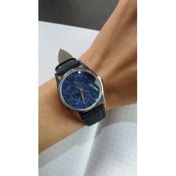 天然石 ラピスラズリ 腕時計