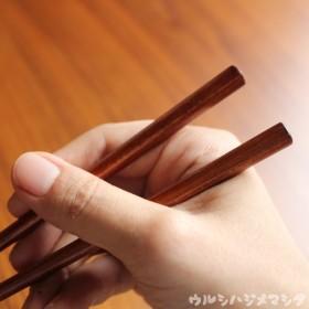 18cm・拭き漆のお箸(無地)