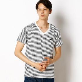 [マルイ] 【パック入り】Vネック 半袖Tシャツ ボーダー/リー(Lee)