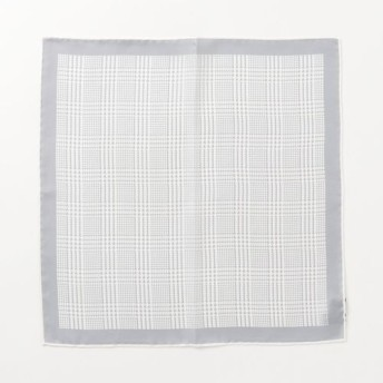 STEFANO BIGI / 千鳥格子柄ポケットチーフ ライトグレー/FREE(エストネーション)◆メンズ ハンカチ/ハンドタオル