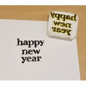 消しゴムはんこ Happy New Year