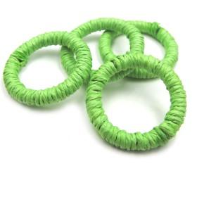 リングパーツ ポップカラー 4個★ライトグリーン★大振りピアスやイヤリングに