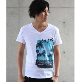 [マルイ]【セール】HIGH STREET∴ヤシの木フォトプリントVネックTシャツ/ハイストリート(HIGH STREET)