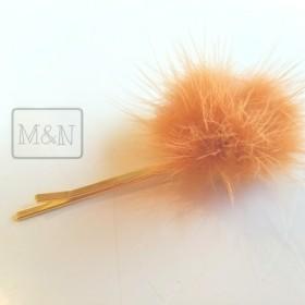 【ヘアピン】オレンジブラウンファー