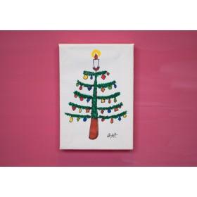 ミニキャンバス クリスマスツリー