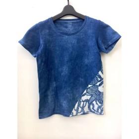 藍染Tシャツ・エリマキトカゲ