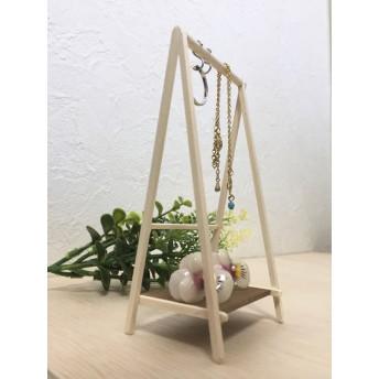木製ミニチュアハンガーラックWH