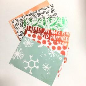 クリスマス の ポストカード6枚組