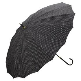 [マルイ] 【長傘】16本骨ドット/丈夫でシックな印象(レディース雨傘)/w.p.c(WPC)