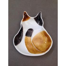 三毛猫(後ろ姿)のお皿
