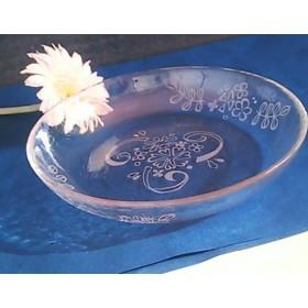 花のガラス皿