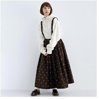 [マルイ]【セール】ドット柄ウール混ジャンパースカート1662/メルロー(merlot)