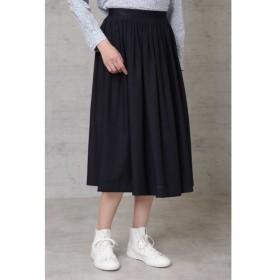 HUMAN WOMAN ヒューマンウーマン タック刺繍スカート