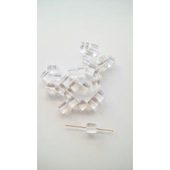 【6mm 10個】水晶 キューブ