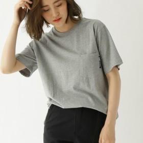 [マルイ] ヘビーウェイト Tシャツ クルーネック ポケット 半袖Tシャツ/ベース ステーション(レディス)(BASE STATION Ladies)
