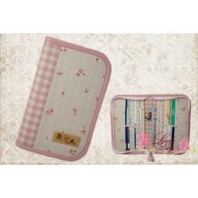 母子手帳ケース S ラウンドタイプ 小花柄 ピンク A6サイズ用