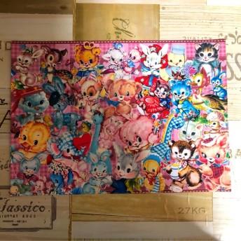 人気No.2☆☆デザインペーパー A4サイズ ぎゅうぎゅうレトロアニマル 第4弾 10枚セット