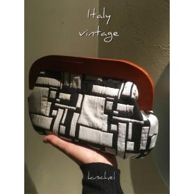 ●イタリア製●ビンテージ 木製クラッチバッグ