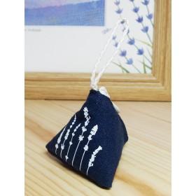 ラベンダー サシェ(香り袋)三角タイプ:ネイビー