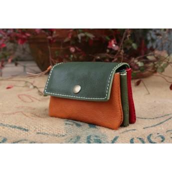 3色の革財布/小さなかわいいレザー財布/3miru-3カラー