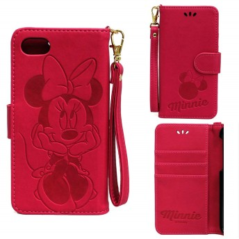 iphone8 iphone7 ケース ディズニー 手帳 かわいい 手帳型 アイフォン8 アイフォン7 ディズニー7 ミニー スマホケース かわいい 耐衝撃 カード プレゼント 誕生日 (ミニー) [