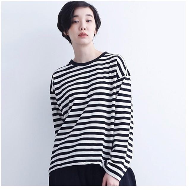 [マルイ]【セール】【IKYU】オーバーサイズボーダートップス/メルロー(merlot)
