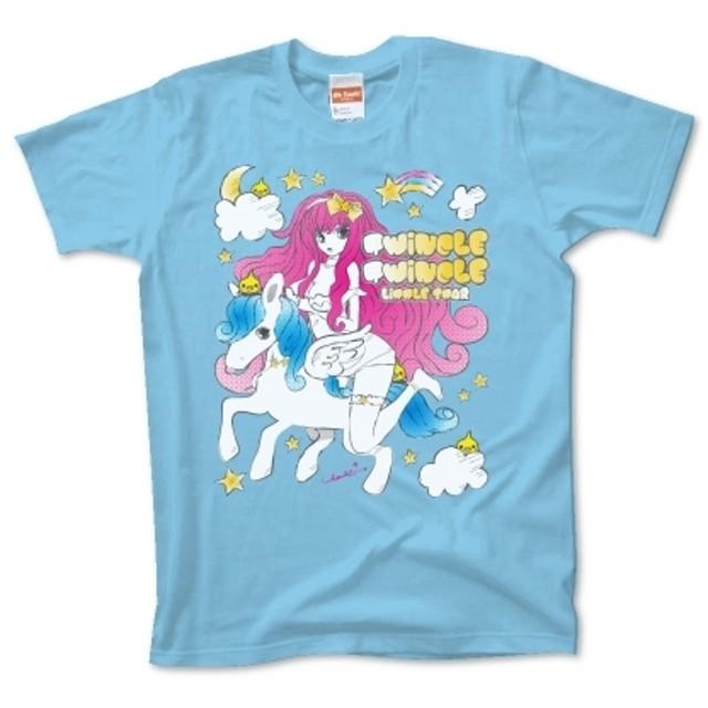 ペガサスとキラキラ星 ファンシーイラスト Tシャツ