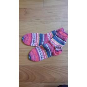 手編みの靴下m0013