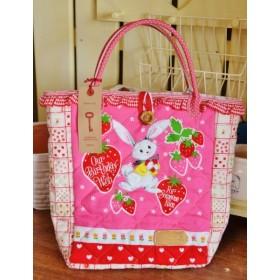★お試し価格★人気の苺うさぎちゃんのミニバッグ